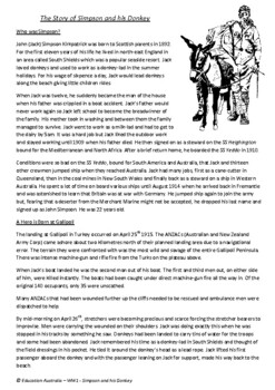 Simpson and his Donkey - World War One - ANZAC - Gallipoli - Mark Greenwood