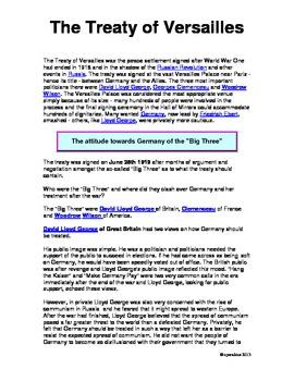 History: World War I Unit