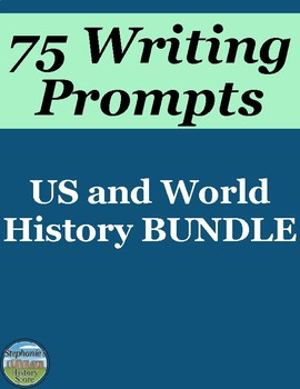 History Writing Prompts BUNDLE