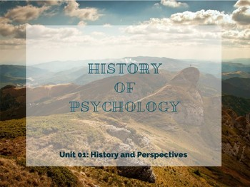 History and Approaches Lecture Bundle- AP Psychology