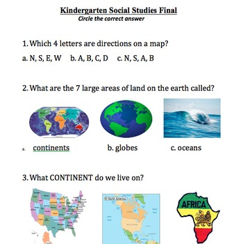 History and Geography Assessment
