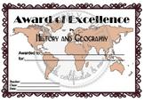 History and Geography Award