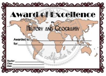 History and Geography Award