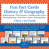 History and Geography Fun Fact Cards BUNDLE - History and