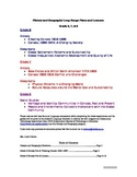 History and Geography Middle School Plans and Lessons