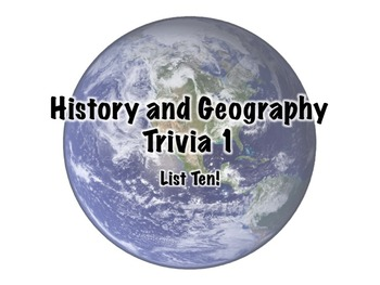 History and Geography Trivia 1