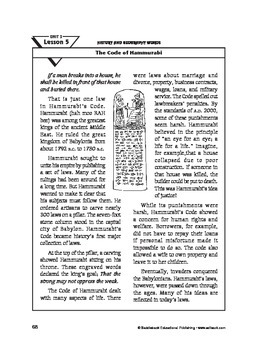 History and Geography Words-The Code of Hammurabi