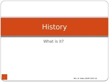 History and archaeology ppt