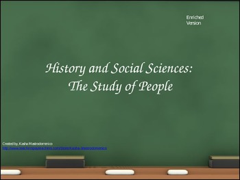 History and the Social Sciences The Study of Humans PowerPoint