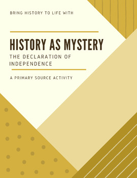 History as Mystery Bundle of Five [Primary Source Activity]