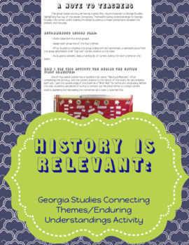 History is Relevant -- Georgia Studies GSE Connecting Themes activity