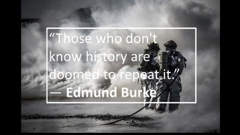 History is important because..............