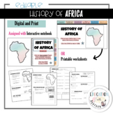 History of Africa | Digtial and Print