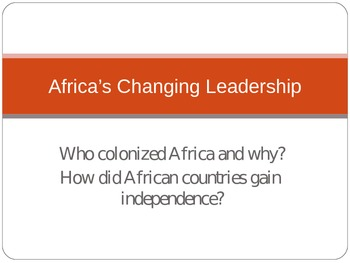 History of African Government PowerPoint