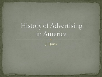 History of American Advertising presentation