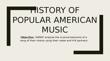 History of American Pop Music Power Point