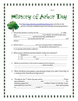 History of Arbor Day Websearch