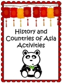 3rd Grade Asia Unit {History & Countries of Asia} Maps, Te