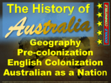 History of Australia: 4-PART BUNDLE (120 slides with 5 pages of guided notes)