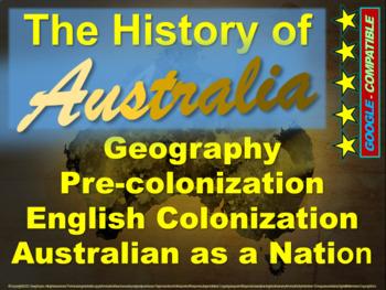 History of Australia: 4-PART BUNDLE (120 slides with 5 pag