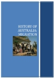 History of Australia: Migration  / Distance Learning