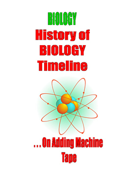 HIGH SCHOOL LEVEL - History of BIOLOGY Timeline on Adding