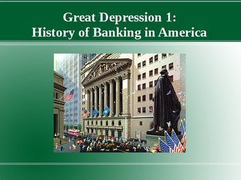 History of Banking in America (Great Depression 1/4)
