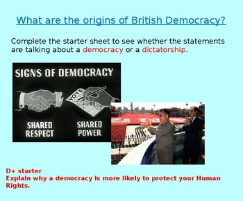 History of British Democracy