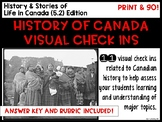 History of Canada Visual Check Ins: History & Stories of Ways of Life in Canada