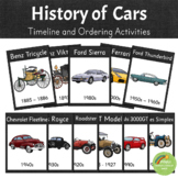 History of Cars - Timeline and Ordering Activities