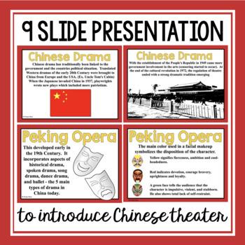 CHINESE THEATER DRAMA PRESENTATION