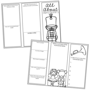 History of Christmas Brochure Templates with Interactive Notebook Pockets
