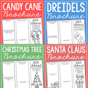 Christmas, Hanukkah, and New Year's Research Projects, Set of 9