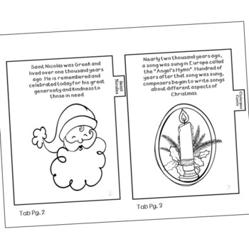 History of Christmas Mini Book, Candy Cane, Nutcracker, Poinsettia