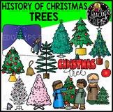 History of Christmas Trees Clip Art Set {Educlips Clipart}
