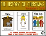 History of Christmas {Vocabulary Cards} for Young Students Kindergarten & First