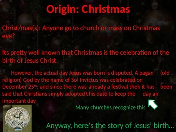 History of Christmas- with activities (elementary & adolescent)