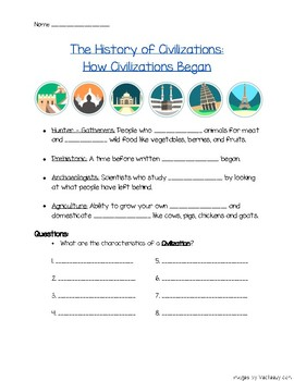 History of Civilizations Note-Taking Worksheet