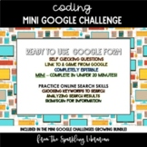 History of Coding Mini Google Challenge - Great for Distan
