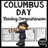 History of Columbus Day Reading Comprehension; Christopher Columbus; October