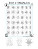 History of Communication Wordsearch Activity Puzzle Distance Learning