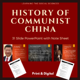 History of Communist China PowerPoint with Note Sheet