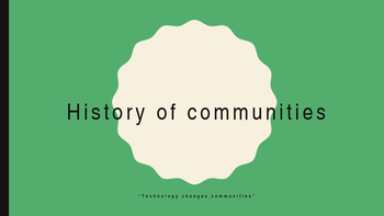 History of Communities, Chapter 2