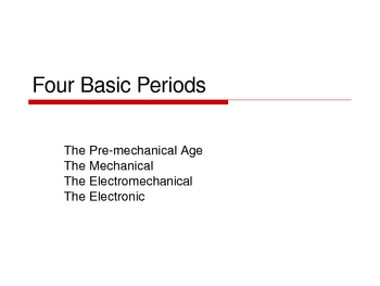 History of Computers Presentations