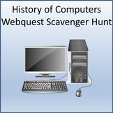 History of Computers Webquest Scavenger Hunt Activity for Google Slides