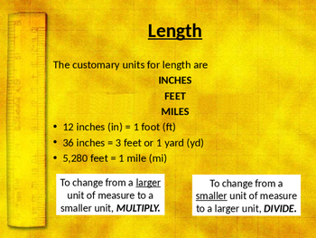 History of Customary Units of Measurement
