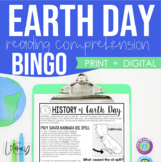 History of Earth Day Reading Comprehension