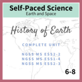 History of Earth (Earth Systems) Middle School NGSS MS ESS1-4, ESS2-2, ESS2-3