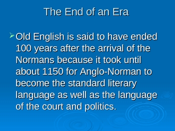 History of English-Middle English Power Point Lecture