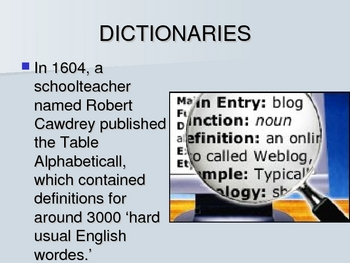 History of English-Modern English Power Point Lecture